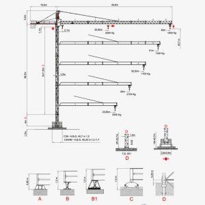 Vežový žeriav SAEZ S 46 4T | TOP CRANES