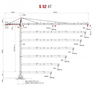 Vežový žeriav SAEZ S 52 4T | TOP CRANES