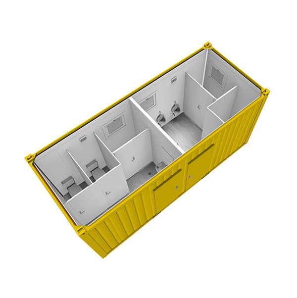 Prenájom kontajnerov a unimobuniek - sanitárny kontajner | TOP CRANES