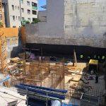 Vežový žeriav - výstavba 6-podlažného bytového domu - projekt Nová Dunajská v Bratislave | TOP CRANES