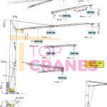 Stavebný žeriav Cattaneo CM 280 - zaťaženie výšky | TOP CRANES